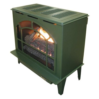 Townsend II Freestanding Steel-Body Stove Finish: Green