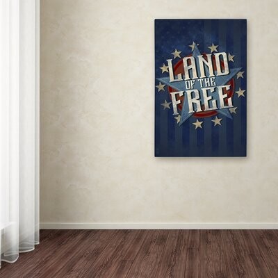 'Patriotic 1' Textual Art on Wrapped Canvas ALI09504-C1219GG