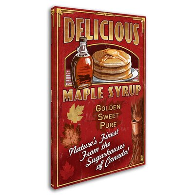 'Pancakes' Vintage Advertisement on Wrapped Canvas Size: 19