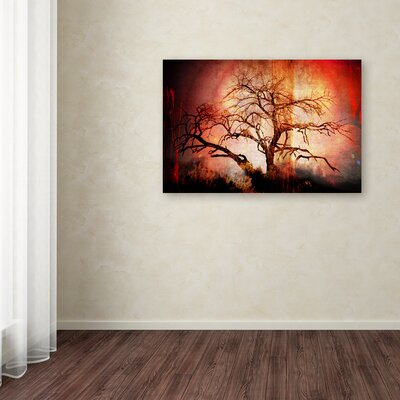 'Cottonwood Tree Part 10' Graphic Art Print on Wrapped Canvas Size: 12