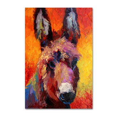 'Donkey Portrait II' Print on Wrapped Canvas Size: 19