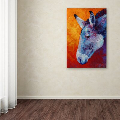 'Burro IV' Print on Wrapped Canvas Size: 19