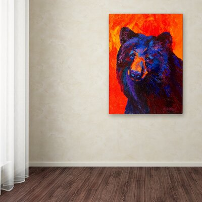 'Thoughtful Black Bear' Print on Wrapped Canvas Size: 19