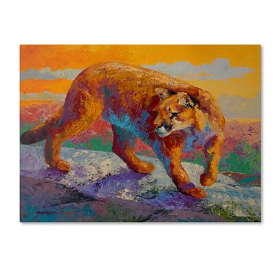 'Ridge Cougar' Print on Wrapped Canvas Size: 14