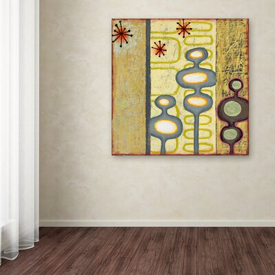 'Sterling Cooper 4' Graphic Art Print on Wrapped Canvas Size: 14