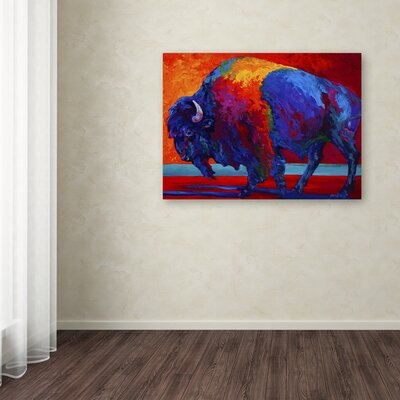 'Abstract Bison' Print on Wrapped Canvas Size: 14