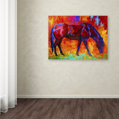 'Bay Mare II' Print on Wrapped Canvas Size: 14