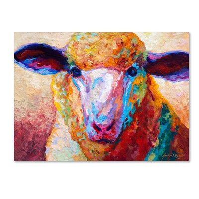 'Dorset Ewe' Print on Wrapped Canvas Size: 14