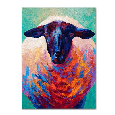 'Suffolk Ewe 4' Print on Wrapped Canvas Size: 19