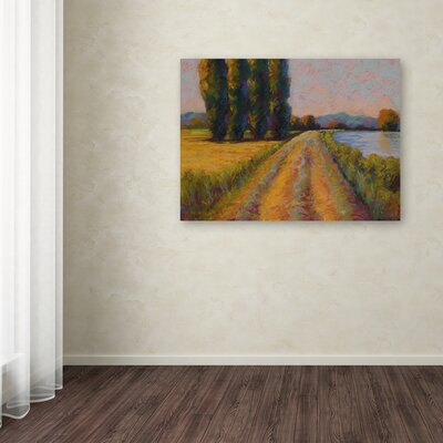 'The Levee' Print on Wrapped Canvas Size: 14