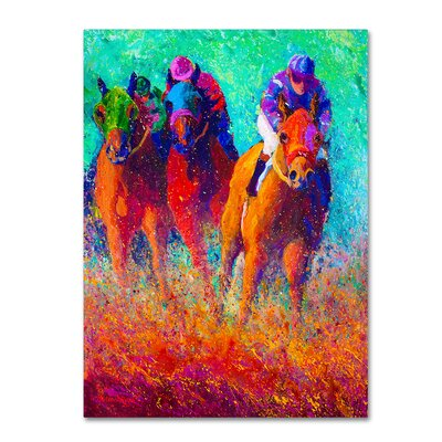 'Thundering Hooves' Print on Wrapped Canvas Size: 19