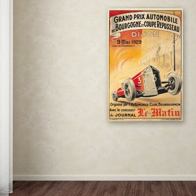 'Car 11' Vintage Advertisement on Wrapped Canvas Size: 19
