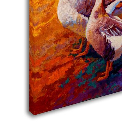 'Gaggle of 2' Print on Wrapped Canvas Size: 19