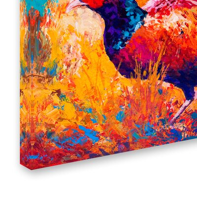 'Pheasant' Print on Wrapped Canvas Size: 12