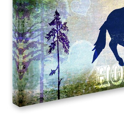 'Country Horse II' Graphic Art Print on Wrapped Canvas Size: 12