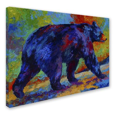 'Black Bear 3' Print on Wrapped Canvas Size: 14