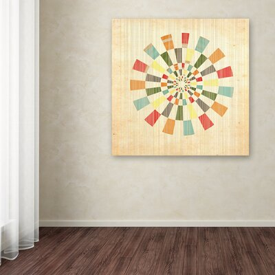 'Pinwheel' Graphic Art Print on Wrapped Canvas Size: 14