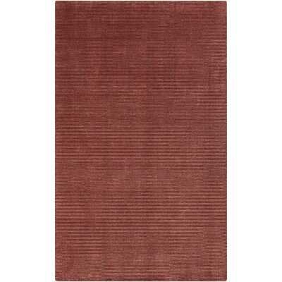 Tiffany Burgundy Solid Rug Rug Size: Rectangle 2 x 3