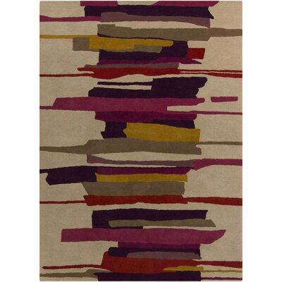 Harlequin Tan Abstract Area Rug Rug Size: 5 x 8