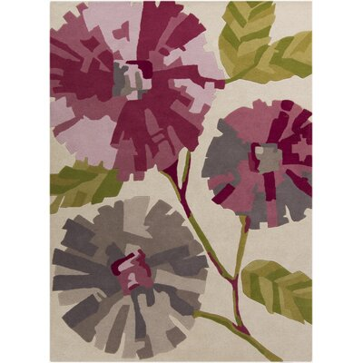 Harlequin Hand-Tufted Ivory Floral Area Rug Rug Size: Rectangle 5 x 8
