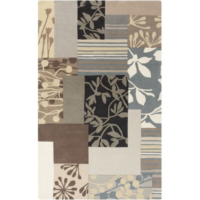 Harlequin Hand-Tufted Light Gray Area Rug Rug Size: 5 x 8