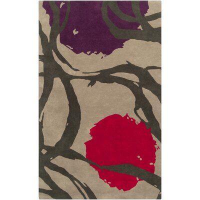 Harlequin Taupe Floral Area Rug Rug Size: Rectangle 9 x 12