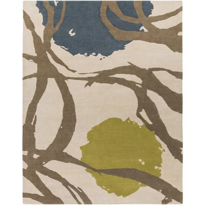 Harlequin Oatmeal Taupe Floral Area Rug Rug Size: 8 x 10