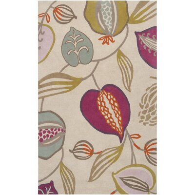 Harlequin Cobble Stone Ivory Floral Area Rug Rug Size: Rectangle 5 x 8