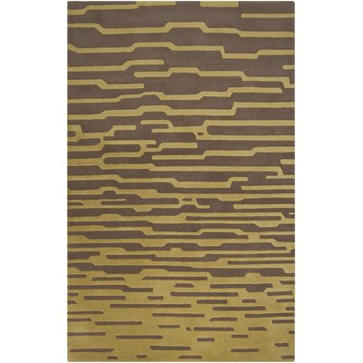 Harlequin Olive/Dark Taupe Geometric Area Rug Rug Size: Rectangle 9 x 12