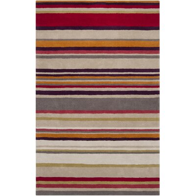 Harlequin Raspberry Striped Area Rug Rug Size: Rectangle 9 x 12