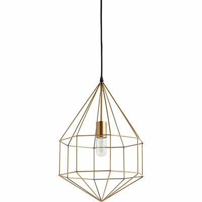 Crampton 1-Light Foyer Pendant Size: Small