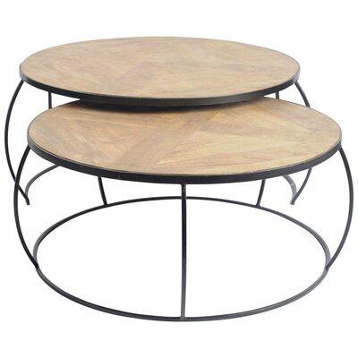 Delisio 2 Piece Coffee Table Set Color: Natural