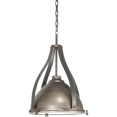 Bashaw II 1-Light Bowl Pendant