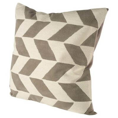 Chandler Brown/White Linen Throw Pillow