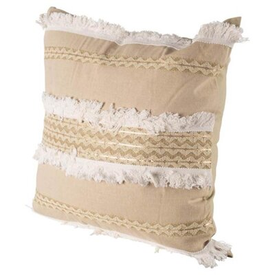 Church Brown/White Linen Throw Pillow