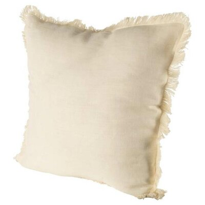 Millburn Linen Throw Pillow Color: Cream