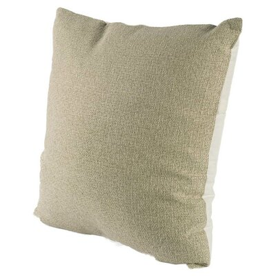 Mendham Square Tan Linen Throw Pillow