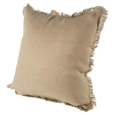 Millburn Linen Throw Pillow Color: Tan