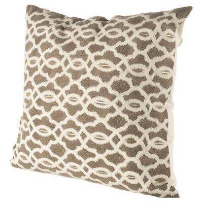 Therese Brown/White Linen Throw Pillow
