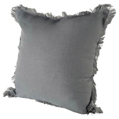 Millburn Linen Throw Pillow Color: Gray