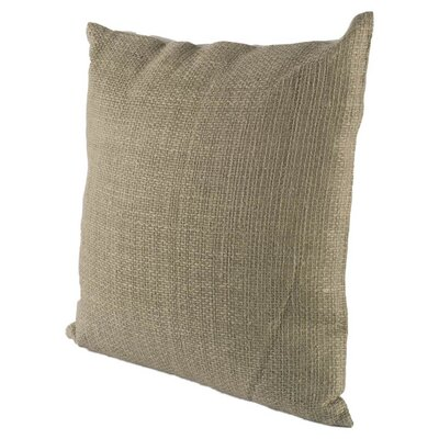 Mendham Square Gray Linen Throw Pillow