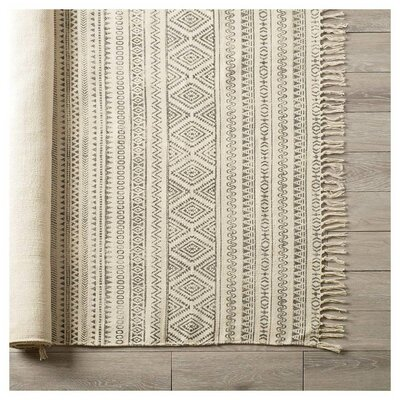 Hopkins Hand-Woven Cream Area Rug