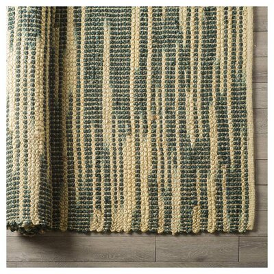 Hazlet Hand-Woven Green Area Rug