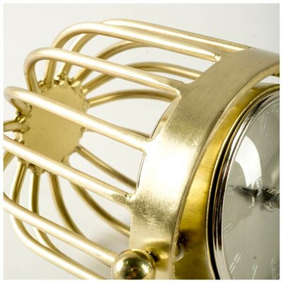 Gold Metal Tabletop Clock