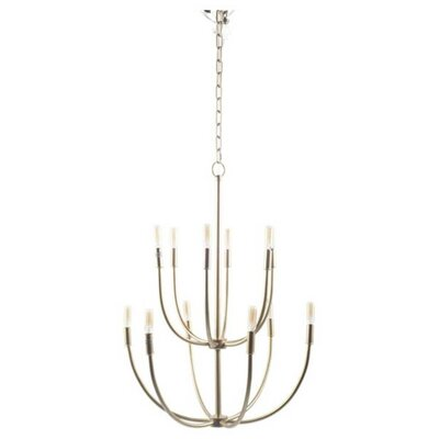 Mallory 12-Light Metal Candle Style Chandelier