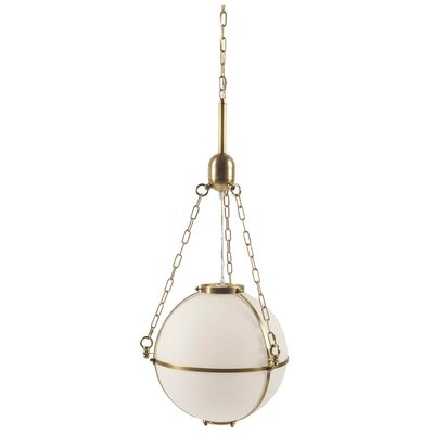 Lorne 1-Light Globe Pendant Finish: Gold