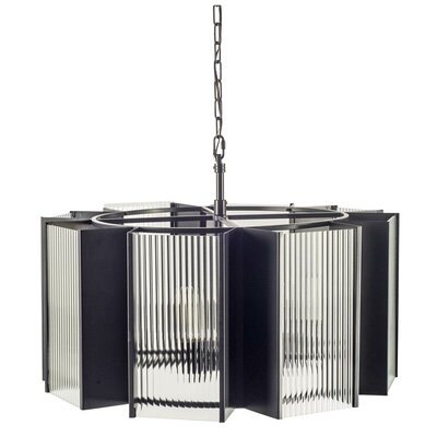 Neville 8-Light Drum Chandelier Finish: Black
