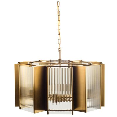 Neville 8-Light Drum Chandelier Finish: Gold