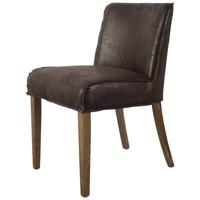 Knowlton Espresso Genuine Leather Upholstered Dining Chair
