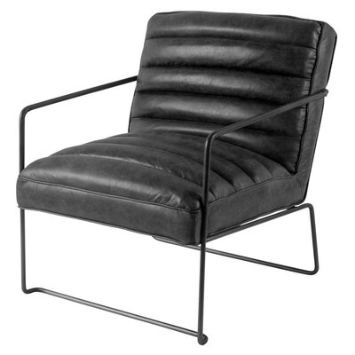 Hamlin Armchair Upholstery: Black, Finish: Matte Black